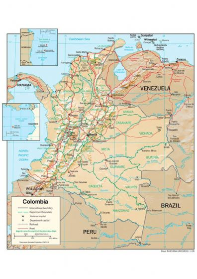 CIA Map Of Colombia 2008. Print/Poster (4864)